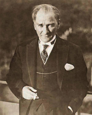 Portrait of Mustafa Kemal Atatürk, first presi...