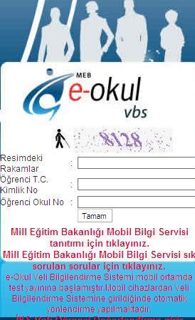 2012 -2013 e-okul veli bilgilendirme sistemi vbs