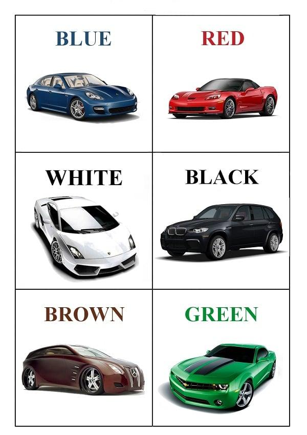 Учим цвета в картинках 1