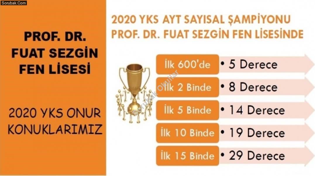 Prof Dr. Fuat Sezgin Fen Lisesi