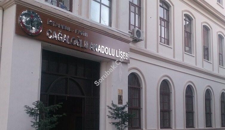 Cağaloğlu Anadolu Lisesi İstanbul/Fatih
