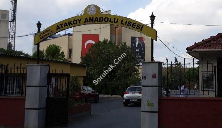 Ataköy Anadolu Lisesi Taban Puanı Başarıları Adresi Telefonu