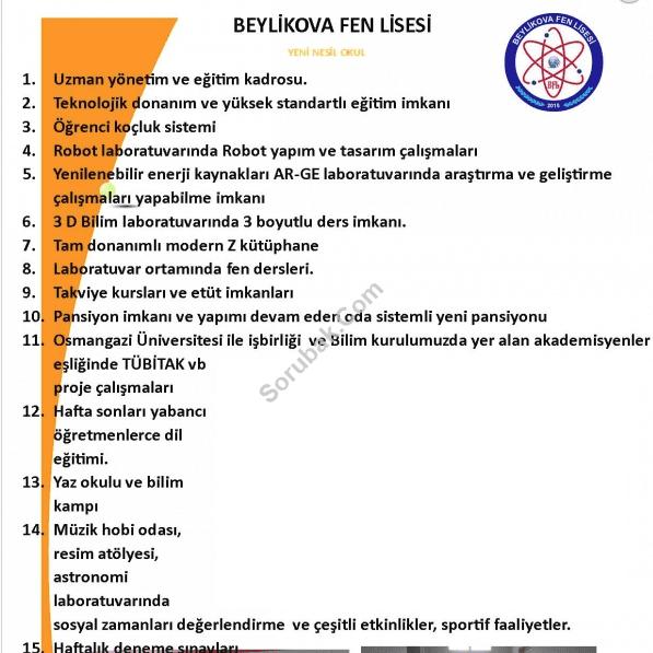Beylikova Fen Lisesi