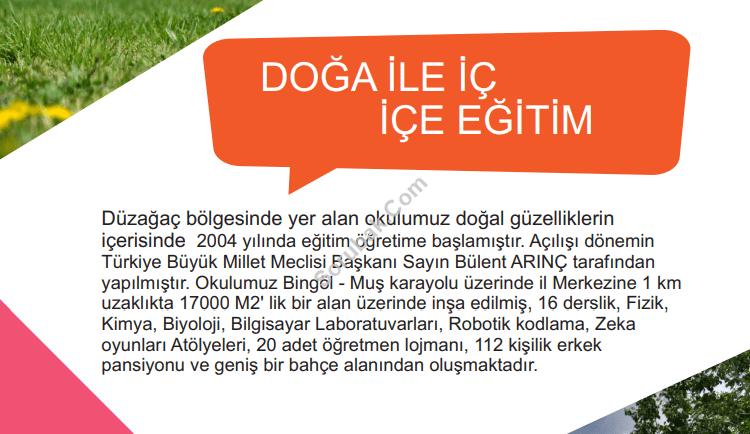 Türkiye Büyük Millet Meclisi Vakfı Bingöl Fen Lisesi