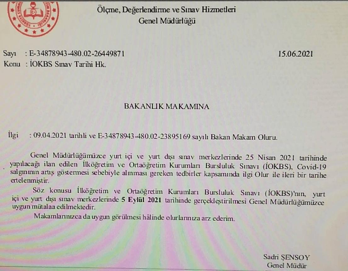 2021 İOKBS sınav tarihi açıklandı.