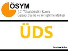 2012 ÜDS sonbahar dönemi sınav giriş belgeleri