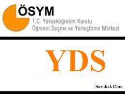 2013-Yabancı Dil Bilgisi Seviye Tespit Sınavı (YDS) İlkbahar Dönemi: Sınav Sonuçları